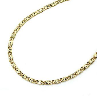 short gold curb chain for children necklace, S tank 36 cm, 14 KT GOLD 585