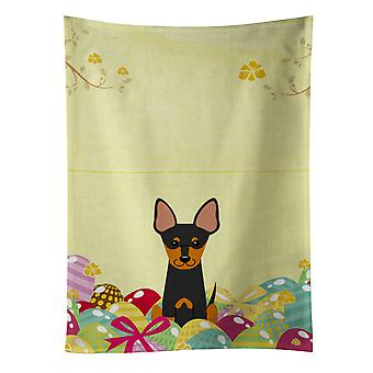 Carolines Treasures  BB6109KTWL Easter Eggs English Toy Terrier Kitchen Towel