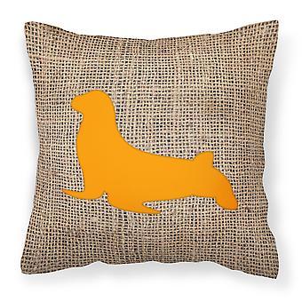 Sello de BB1027 decorativo de la almohadilla de arpillera y tela de lona naranja