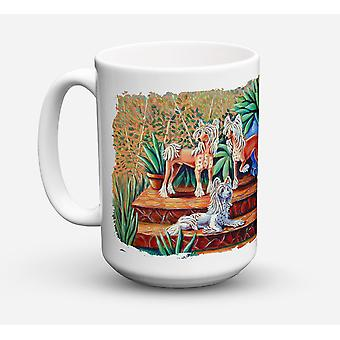 Chinese Crested  Dishwasher Safe Microwavable Ceramic Coffee Mug 15 ounce