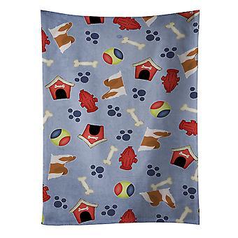 Carolines tesouros BB3946KTWL Shih Tzu cachorro casa coleção toalha de cozinha