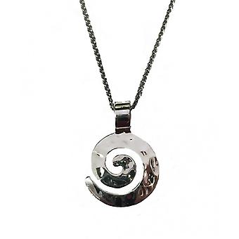 Cavendish French Silver swirl maze pendant comes with 16