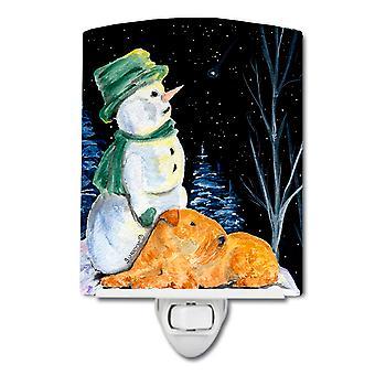 Carolines Treasures  SS8555CNL Snowman with Lakeland Terrier Ceramic Night Light