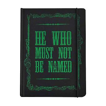 Harry Potter Notebook Voldemort He who must not be named Official A5 hardback