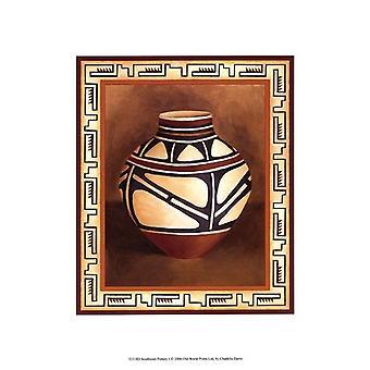 Southwest Pottery I Poster Print by Chariklia Zarris (10 x 13)