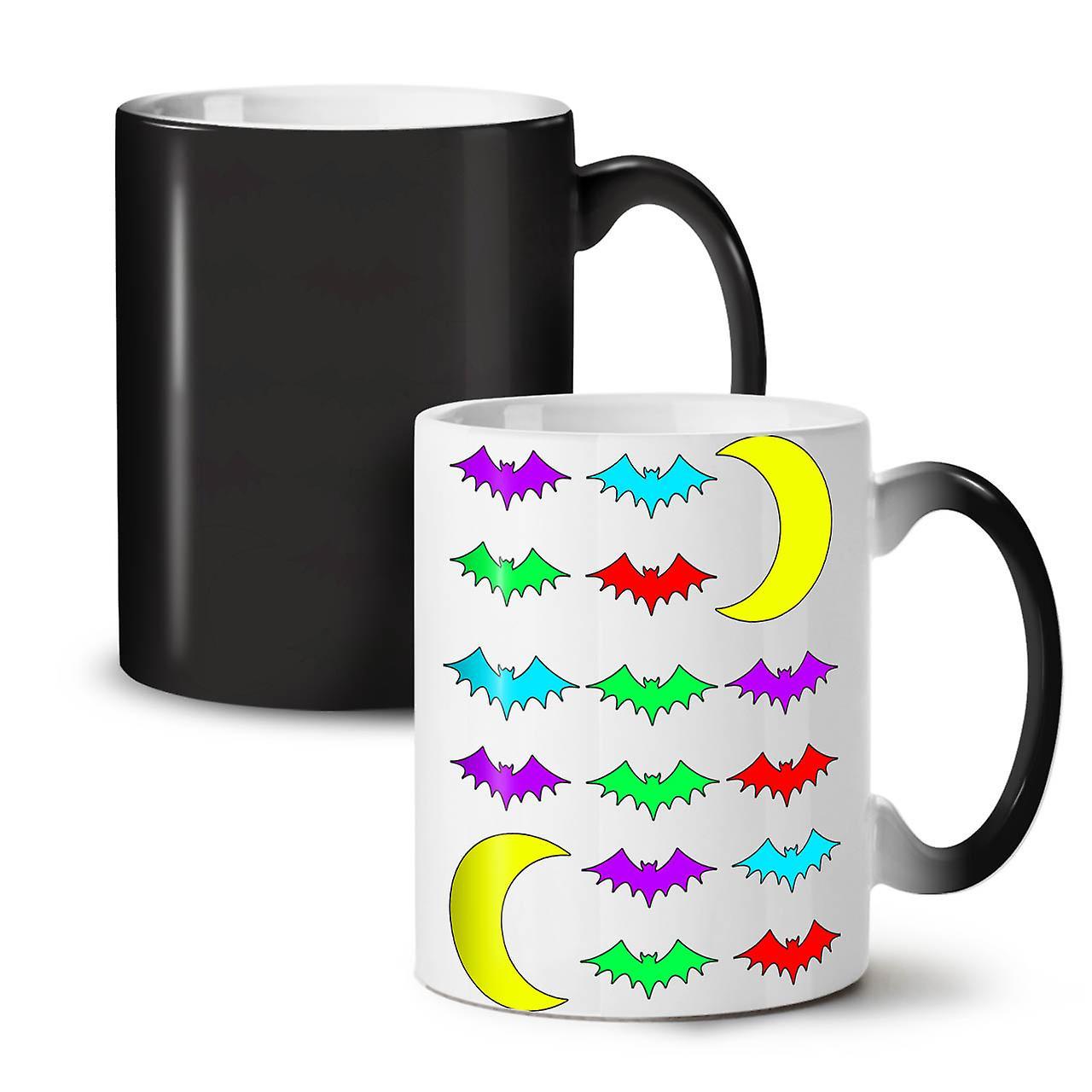 11 De Noir Nouvelle Nuit Animal Tasse OzWellcoda Bat Céramique Café Changeant Thé Couleur rBotsQdxCh