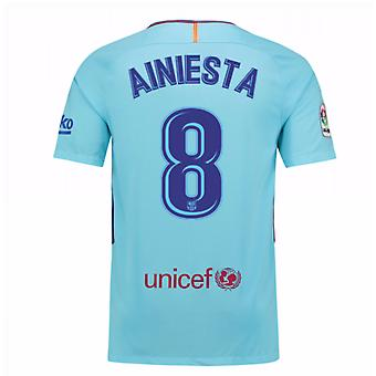 2017-2018 Barcelona weg Shirt (een Iniesta 8)