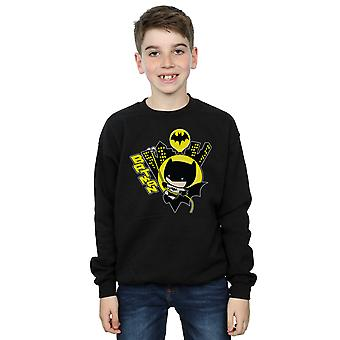 DC Comics Boys Chibi Batman Swinging Sweatshirt