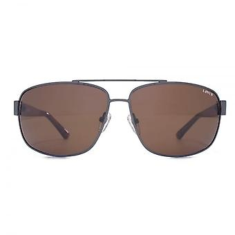 Levis Metal Square Sunglasses In Matte Gunmetal