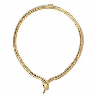 Collana serpente d'oro 18ct insieme con gli occhi rubino 16 pollici