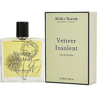 Vetiver Insolent By Miller Harris Eau De Parfum Spray 3.4 Oz