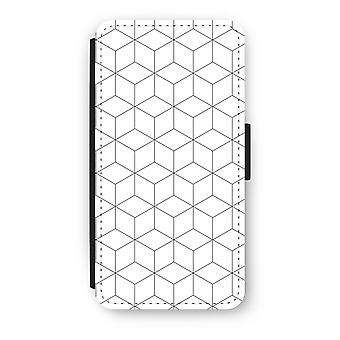 Huawei P8 Lite (2015-2016) Flip Case - Cubes black and white