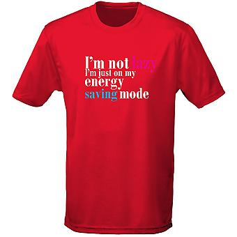 I'm Not Lazy I'm In Energy Saving Mode Mens T-Shirt 10 Colours (S-3XL) by swagwear