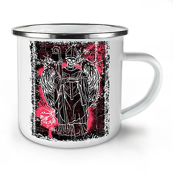 Satan Angel Devil NEW WhiteTea Coffee Enamel Mug10 oz | Wellcoda