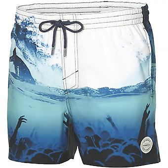 O'Neill Surfer Festival Photo Art Swim Shorts, White/Blue