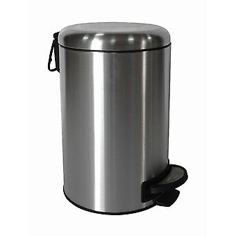 Brights 12L Stainless Steel Satin Finished Pedal Bin With Domed Shape Lid