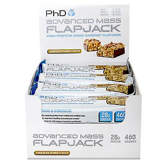 PhD Advanced Mass Flapjack Chocolate Peanut 12 bars (Sport , Muscle mass , Proteins)