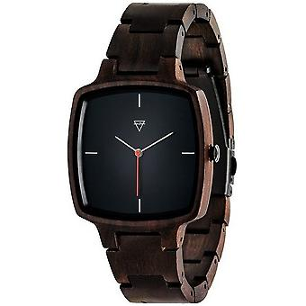Notched wooden watches mens watch Hans sandalwood WATWHANS1008