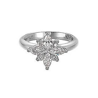 ESPRIT women's ring silver zirconia shining starlet ESRG91727A1