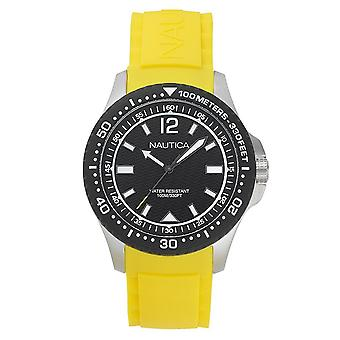 Nautica mens watch wristwatch NAPMAU005 silicone