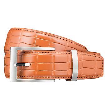 Cinturones cuero cinturón naranja cinturones hombre 3414 del pionero