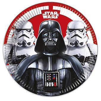 Plaat partij schotel plaat Star Wars Finale kinderen partij verjaardag 23 cm diameter 8 stuks