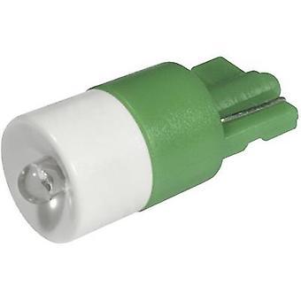 LED bulb W2.1x9.5d Green 12 Vdc, 12 V AC 2100 mcd CML