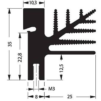 Fin heat sink 4.75 C/W (L x W x H) 50 x 33 x 35 mm TO 218, TO 220, TO 3P, TO 247, TO 248 Fischer Elektronik SK 482 50 SA