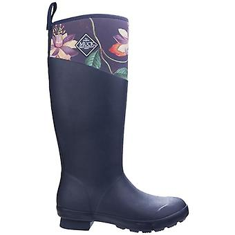 Muck Boots Tremont Navy Floral Wellington Boots