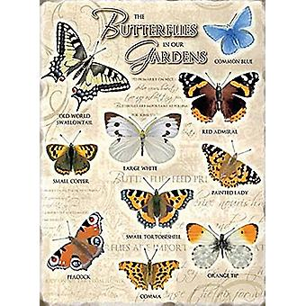 Butterflies In Our Gardens Small Metal Sign 200Mm X 150Mm