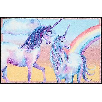 Salong lion dörrmatta Unicorn fantasi 50 x 75 cm tvättbar Unicorn ingående matta