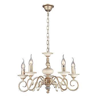 Maytoni oświetlenie Perla elegancki żyrandol, krem złoto