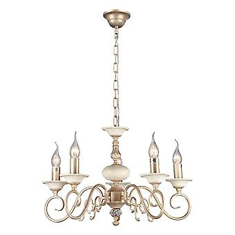Maytoni Lighting Perla Elegant Chandelier, Cream Gold