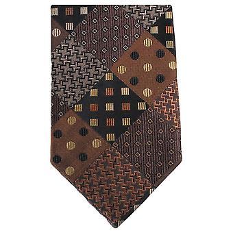 Knightsbridge Krawatten Multi Muster Krawatte - braun