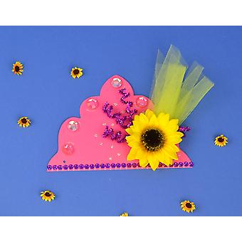 SALE -  10 Bright Pink Tiaras to Decorate | Crown Making Crafts for Kids