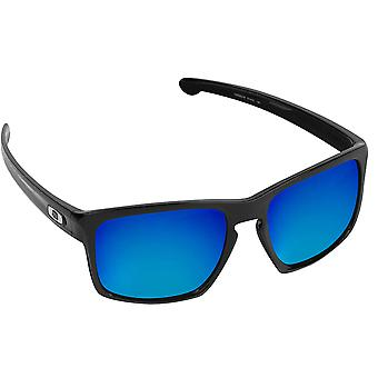 Best SEEK Polarized Replacement Lenses for Oakley SLIVER Asian Fit Blue Mirror