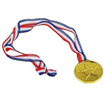 TRIXES 12 plastikowych Złoci zwycięzcy medale - dzień/Olympic tematu/nagrody sportowe