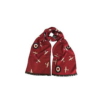 Union Jack dragen Spitfire sjaal - Red RAF Spitfire sjaal