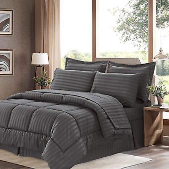 100% Cotton Comforter 5 Piece Set-grey