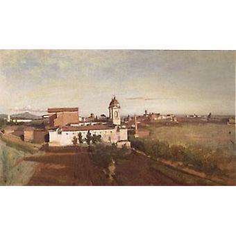 45x74cm dei، جان باتيست كاميل كوروت، الكنيسة ترينيتا