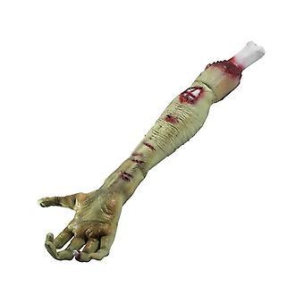 Latex Zombie Rotting Flesh Arm Prop, Green, 58x15x8cm / 23x6x3in