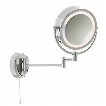 11824 Chrome Magnifying Bathroom Mirror Light