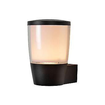 Lucide Ninke moderno cilindro alumínio parede preta luz