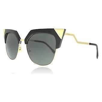 Fendi FF0149/S REW Black Gold 0149/S Oval Sunglasses Lens Category 3 Size 54mm