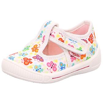 Superfit Girls Bully 4-265-10 Canvas Shoes White Butterfly Print