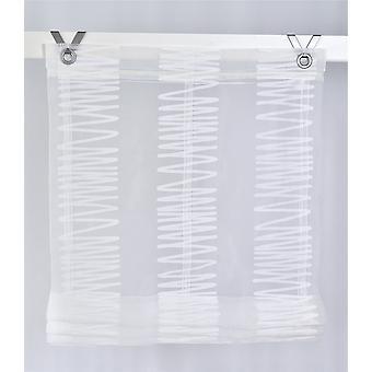 «Roland impreso moderno romano de la cortina» Dakar «blanco con ganchos o lazos sin perforación.