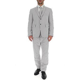 Thom Browne Grey Cotton Suit