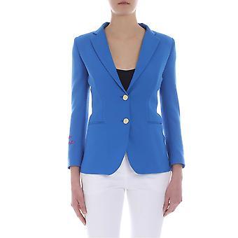 Giada Benincasa Light Blue Cotton Blazer
