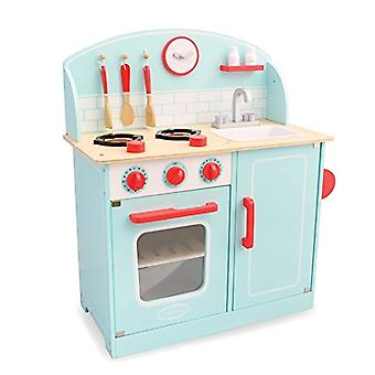 Indigo Jamm Lynton Wooden Toy Kitchen, Pretend Play Cooker Unit with Sink and Cooking Accessories