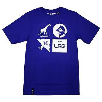 Lrg RC Logo Mash Up T-shirt Deep Colbalt